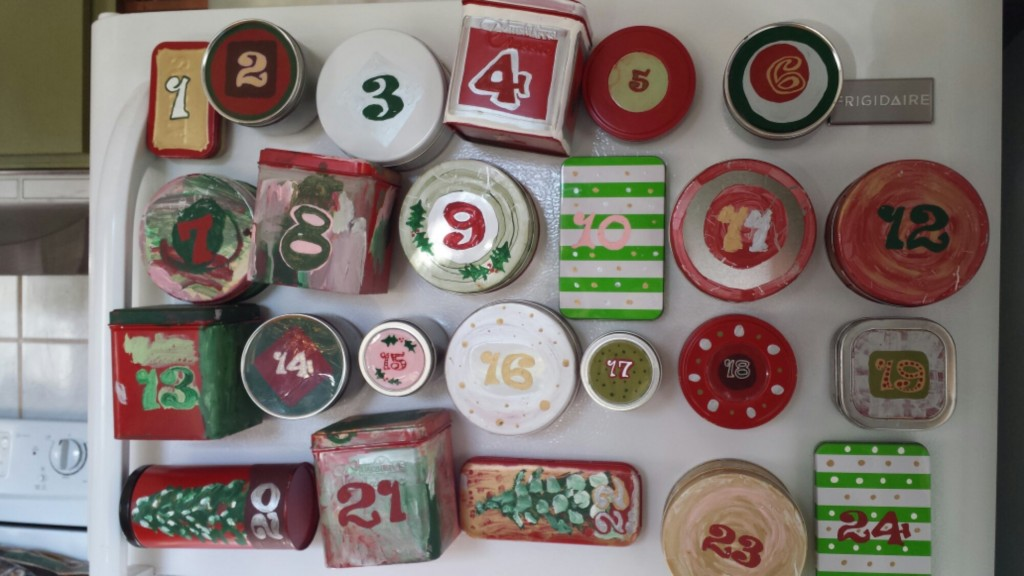 advent calendar magnets