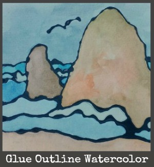 black glue watercolor title