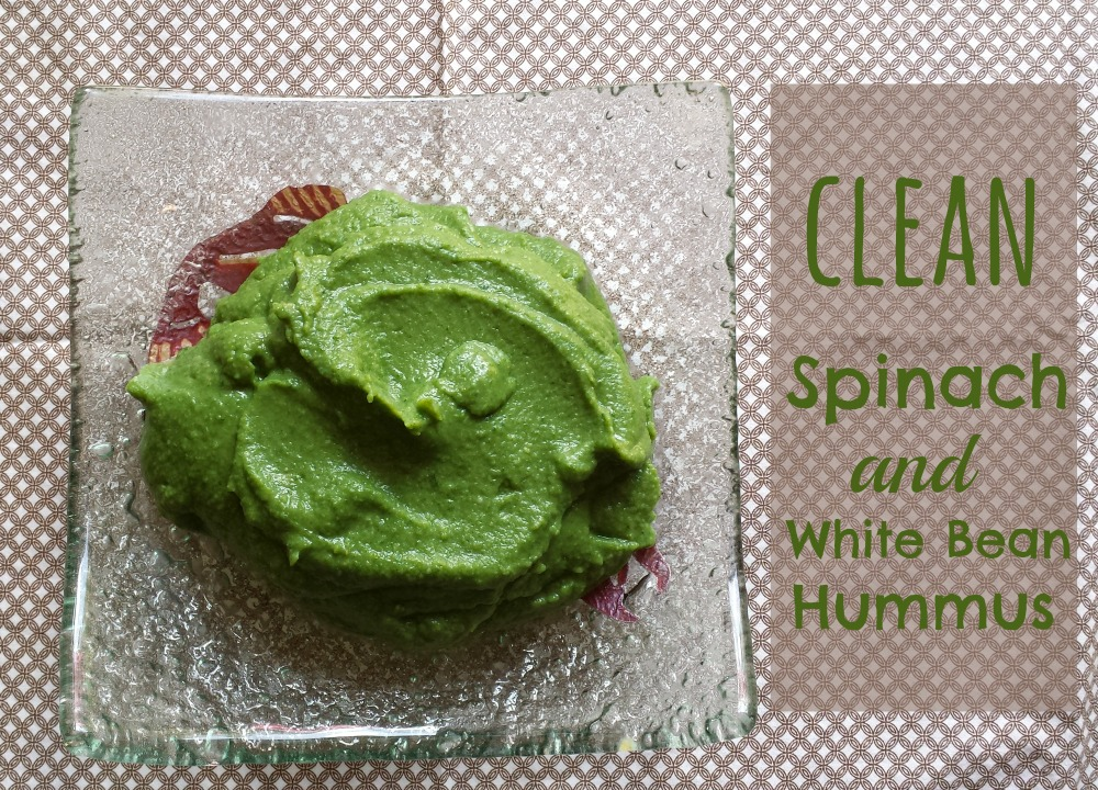 clean spinach and white bean hummus recipe