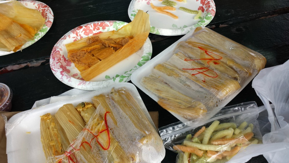 asparagus and pork tamales from Los Hernandez Tamales
