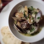 Manila Clams with Wine, Butter and Garlic