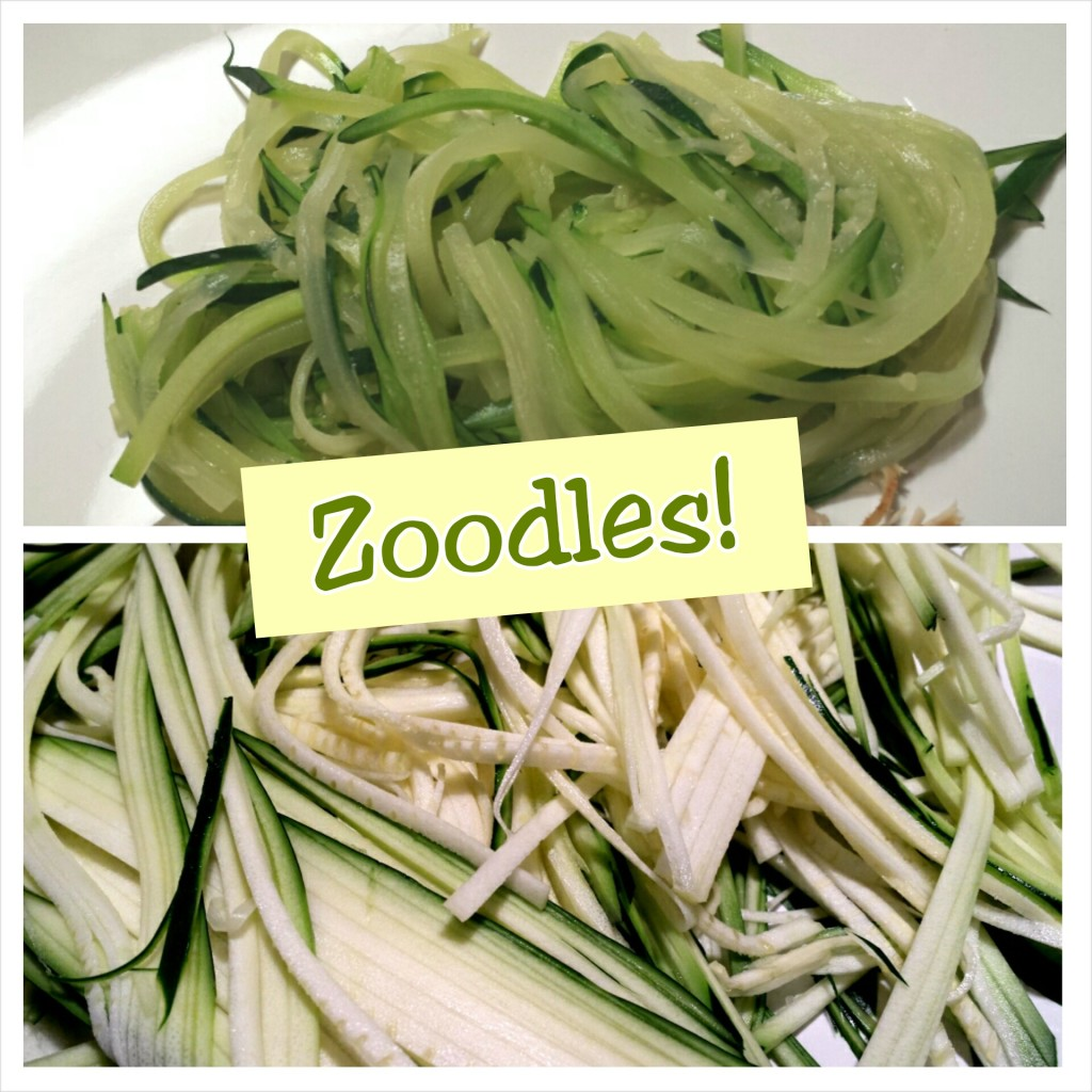 zoodles are zucchini squash sliced into thin noodles