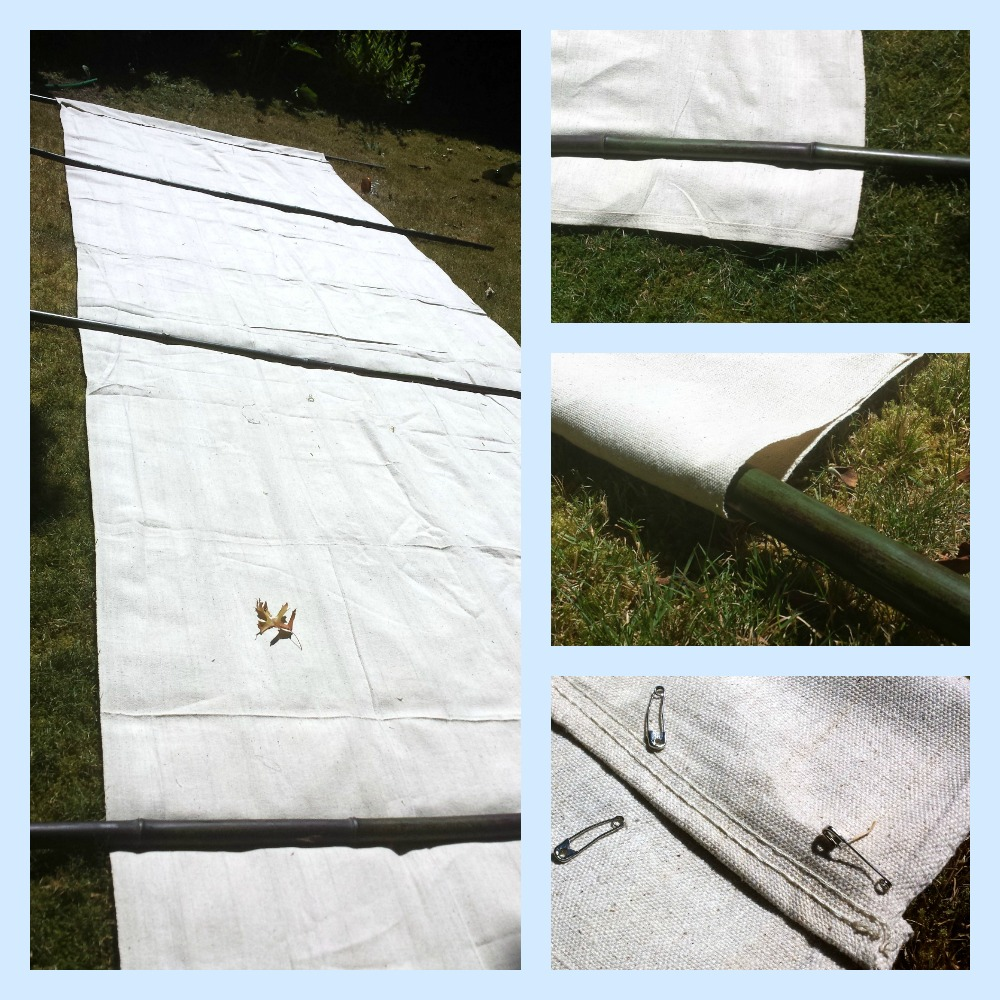 make your own canvas beach windbreak