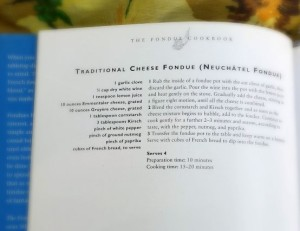 recipe page from The Fondue Cookbook