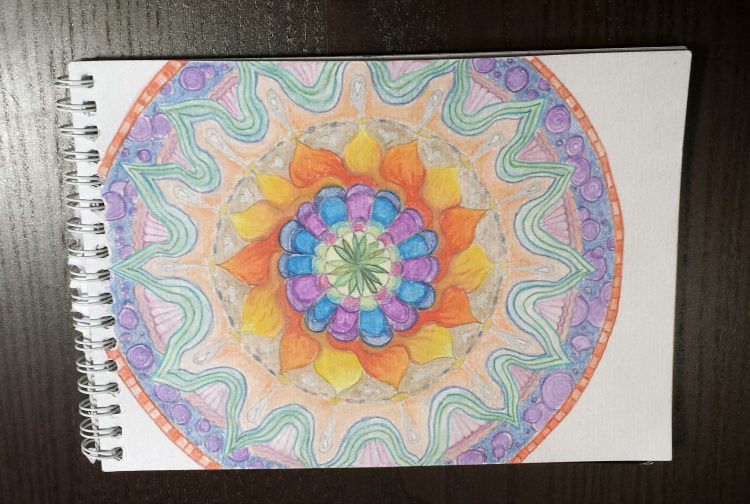 finished meditative mandala