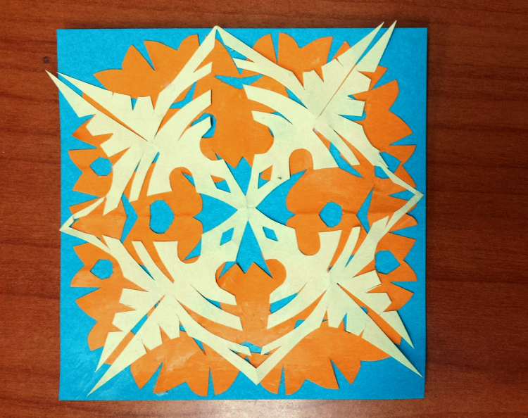 sticky paper art cutout